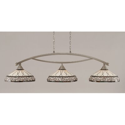 Austinburg 3-Light 150W Billiard Light Finish: Brushed Nickel