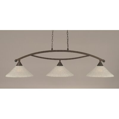 Eisenhauer 3-Light Kitchen Island Pendant Finish: Bronze