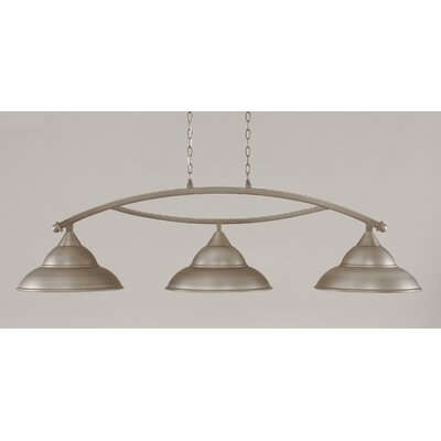 Bow 3-Light Billiard Light Finish: Brushed Nickel