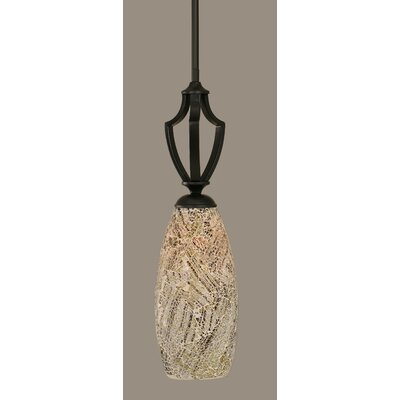 Zilo 1-Light Mini Pendant Finish: Matte Black, Shade Color: Natural