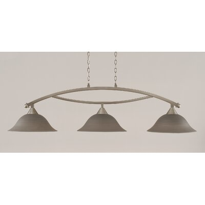 Blankenship 3-Light Billiard Light Color: Brushed Nickel, Shade Color: Gray