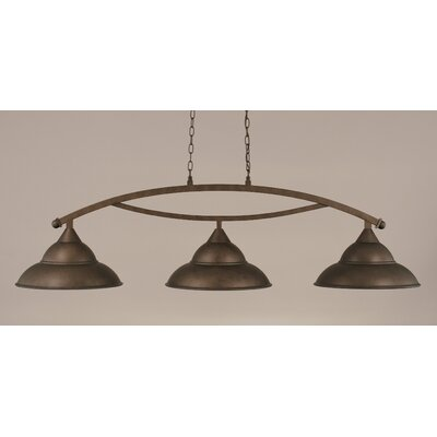 Bow 3-Light Billiard Light Finish: Bronze