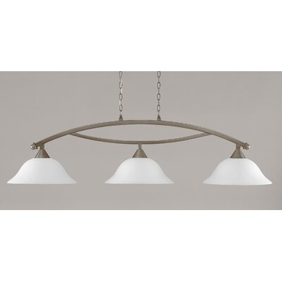 Blankenship 3-Light Billiard Light Finish: Brushed Nickel, Shade Color: White