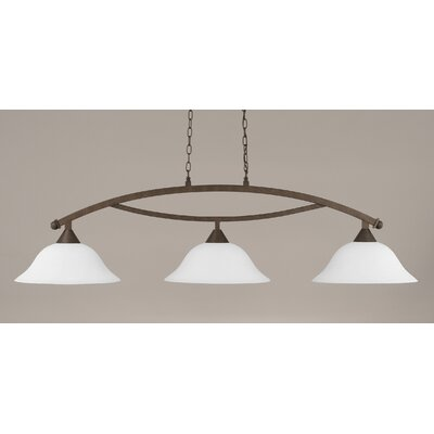 Blankenship 3-Light Billiard Light Finish: Bronze, Shade Color: White