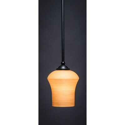 Zilo 1-Light Mini Pendant Finish: Matte Black, Shade Color: Cayenne