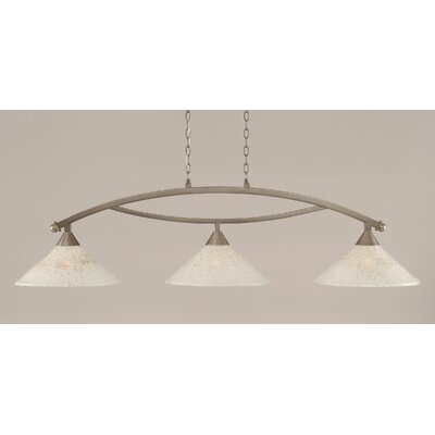 Blankenship 3-Light 150W Kitchen Island Pendant Finish: Brushed Nickel