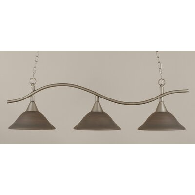 Swoop 3-Light Kitchen Island Pendant Shade Color: Gray