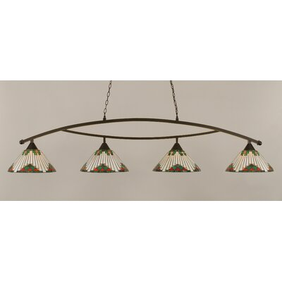 Essonnes 4-Light Metal Kitchen Island Pendant
