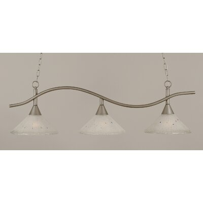 Swoop 3-Light Kitchen Island Pendant Shade Color: Frosted