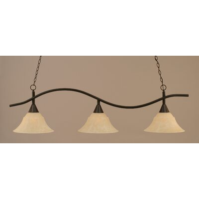 Swoop 3-Light Billiard Light Shade Color: Amber