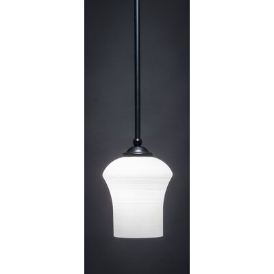 Zilo 1-Light Mini Pendant Finish: Matte Black, Shade Color: White