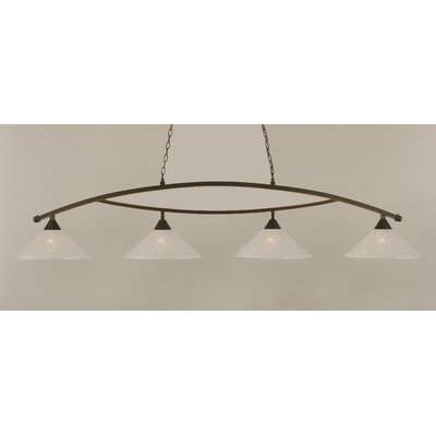 Eisenhauer 4-Light Metal Kitchen Island Pendant Finish: Dark Granite