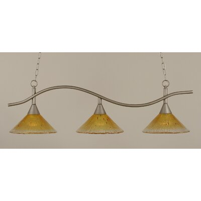 Swoop 3-Light Kitchen Island Pendant Shade Color: Gold Champagne
