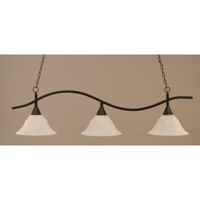 Swoop 3-Light Billiard Light Shade Color: White