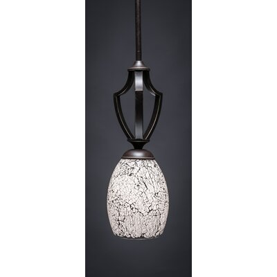 Zilo 1-Light Mini Pendant Finish: Dark Granite