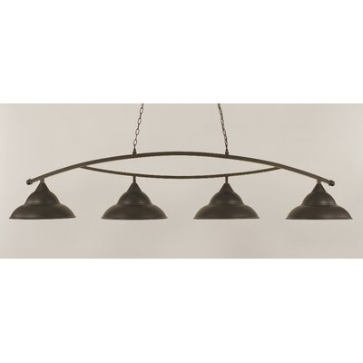 Bow 4-Light Billiard Light Finish: Dark Granite