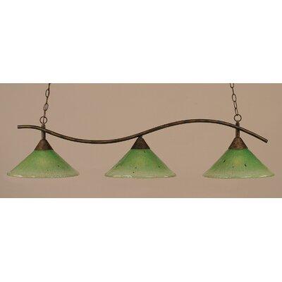 Swoop 3-Light Kitchen Island Pendant Shade Color: Kiwi Green