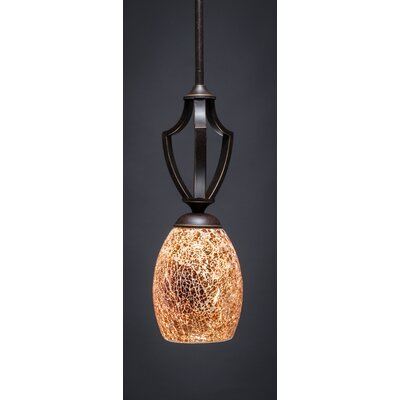 Zilo 1-Light Mini Pendant Size: 15 H x 5 W, Finish: Dark Granite
