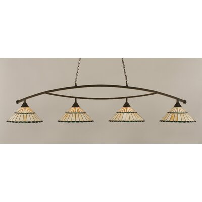 Austinburg Tiffany 4-Light Kitchen Island Pendant