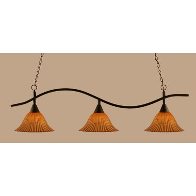 Swoop 3-Light Kitchen Island Pendant