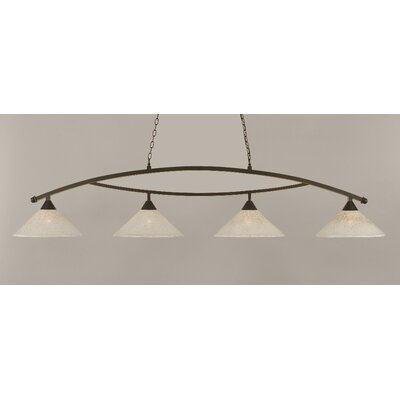 Eisenhauer 4-Light Glass Shade Kitchen Island Pendant