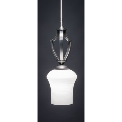 Zilo 1-Light Mini Pendant Shade Color: White