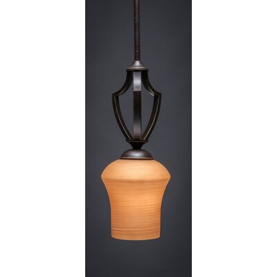Zilo 1-Light Mini Pendant Finish: Dark Granite, Shade Color: Cayenne