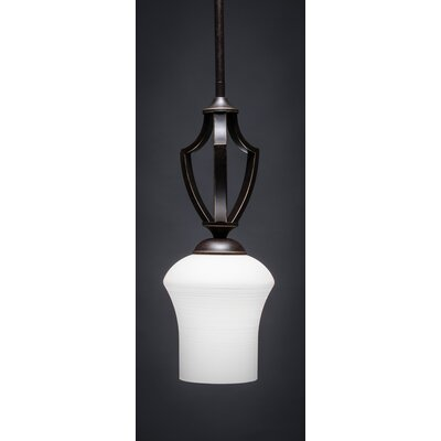 Zilo 1-Light Mini Pendant Finish: Dark Granite, Shade Color: White