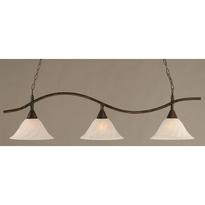 Swoop 3-Light Kitchen Island Pendant Finish: Bronze