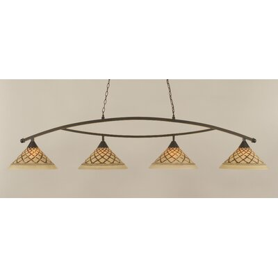 Bow 4-Light Kitchen Island Pendant