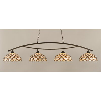 Austinburg 4-Light 150W Brown Kitchen Island Pendant