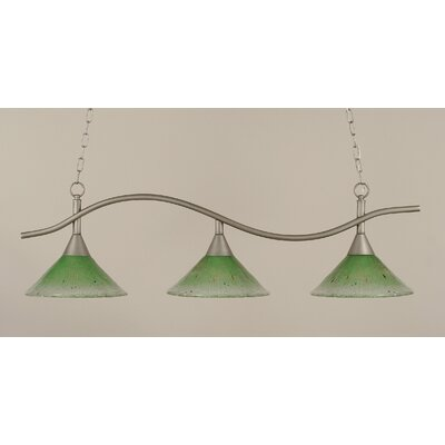 Swoop 3-Light Kitchen Island Pendant Shade Color: Kiwi Green