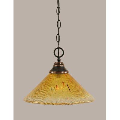 1-Light Downlight Pendant Finish: Black Copper