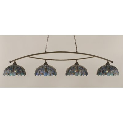 Austinburg 4-Light 150W Metal Kitchen Island Pendant