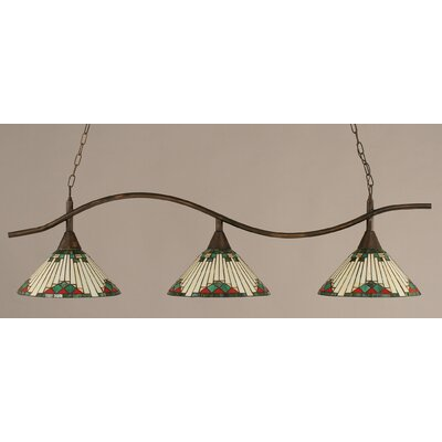Swoop 3-Light Billiard Light Finish: Bronze
