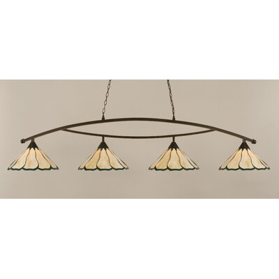 Austinburg 4-Light Brown Kitchen Island Pendant