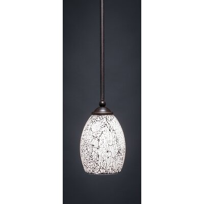 Bedolla 1-Light Mini Pendant Finish: Dark Granite, Shade Color: Black, Size: 8 H x 5 W