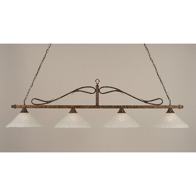 Reba 4-Light Glass Shade Billiard Light