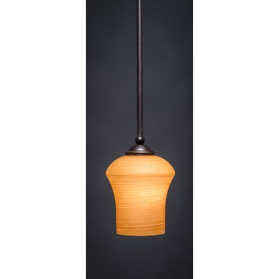 Zilo 1-Light Mini Pendant Shade Color: Cayenne, Finish: Dark Granite
