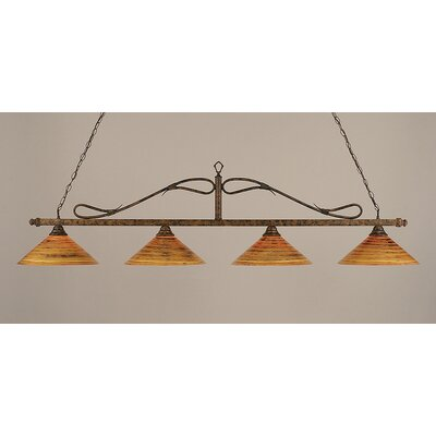 Reba Contemporary 4-Light Billiard Light