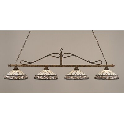 Scroll 4-Light Billiard Light
