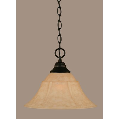 1-Light Mini Pendant Size: 10.75 H x 14 W x 14 D
