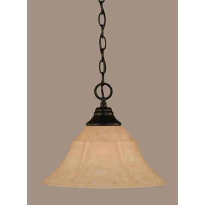 1-Light Mini Pendant Size: 10.75 H x 14 W x 14 D