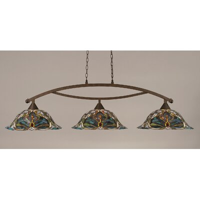 Austinburg 3-Light 150W Kitchen Island Pendant Finish: Bronze