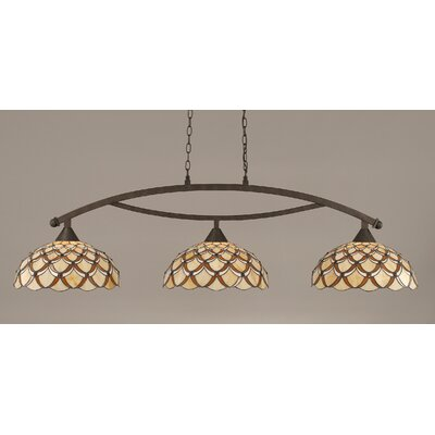 Bow 3-Light Kitchen Island Pendant Finish: Bronze