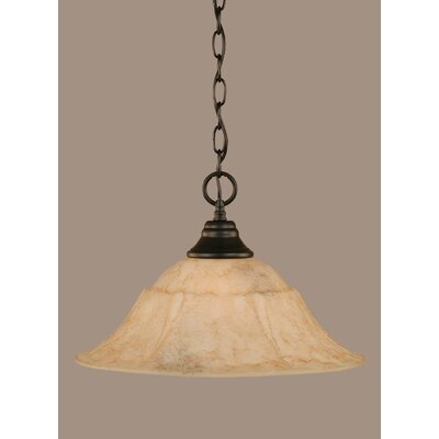 1-Light Mini Pendant Size: 10.5 H x 16 W x 16 D