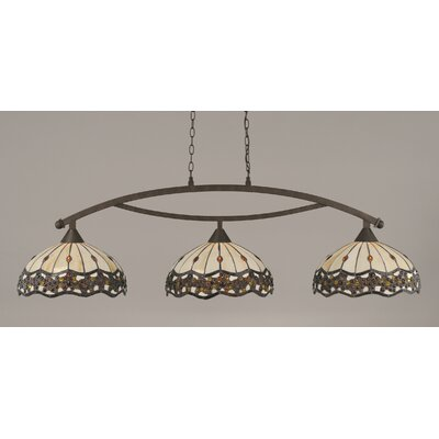 Austinburg 3-Light Steel Billiard Light Color: Bronze
