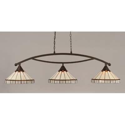 Essonnes 3-Light Billiard Light Finish: Dark Granite