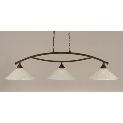 Eisenhauer 3-Light Kitchen Island Pendant Finish: Dark Granite