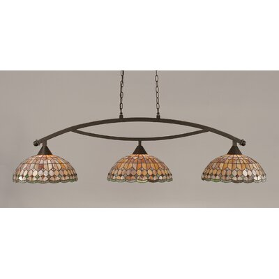 Austinburg 3-Light Metal Billiard Light Finish: Dark Granite